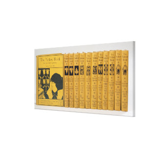 Cover and spine designs for 'The Yellow Book', Vol Canvas Print