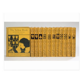 Cover and spine designs for 'The Yellow Book', Vol Postcard