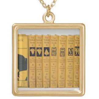Cover and spine designs for 'The Yellow Book', Vol Square Pendant Necklace