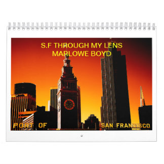 COVER copy 5, S.F THROUGH MY LENS MARLOWE BOYD Calendar