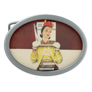 Cover Girl Oval Belt Buckle
