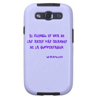 Cover housing for mobile with phrase on Silence Galaxy SIII Case