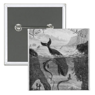 Cover Illustration '20,000 Leagues Under the Sea' 15 Cm Square Badge