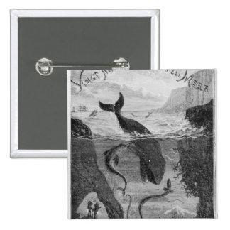 Cover Illustration '20,000 Leagues Under the Sea' 15 Cm Square Badge