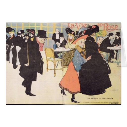 Cover illustration for 'La Vie en Rose', 1903 (col Greeting Card