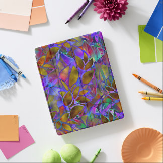 Cover iPad 2/3/4 Floral Abstract Stained Glass iPad Cover