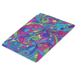 Cover iPad 2/3/4 Floral Doodle Drawing iPad Cover