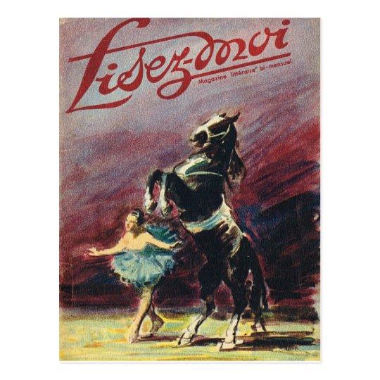 Cover, Lisez-Moi, Circus performance Postcard