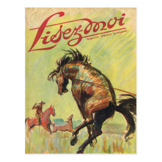 Cover, Lisez-Moi, Cowboy, Rodeo horse Postcard