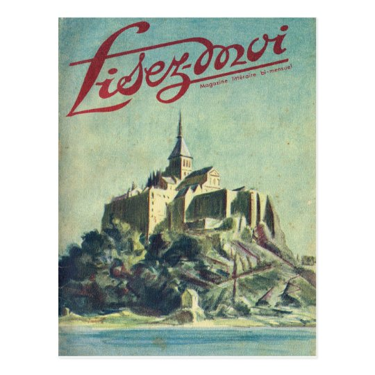 Cover, Lisez-Moi, Mount St Michel Postcard