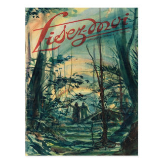 Cover, Lisez-Moi, Walk in the forest Postcard