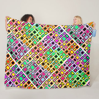 Cover Merry Multicoloured Abstract Square Fleece Blanket