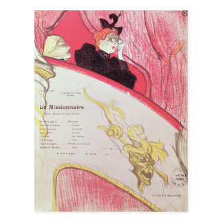 Cover of a programme for 'Le Missionaire' Postcard