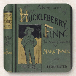 Cover of 'Adventures of Huckleberry Finn' by Mark Beverage Coasters
