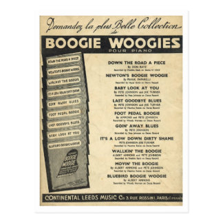Cover of Boogie Woogie sheet music Post Card