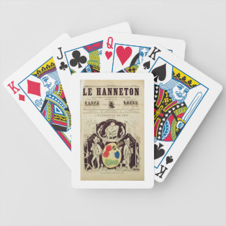 Cover of 'Le Hanneton', depicting 'The Artists Bef Bicycle Playing Cards