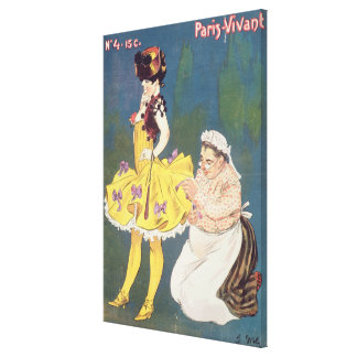 Cover of 'Paris-Vivant' Magazine, 1901 (colour lit Canvas Print