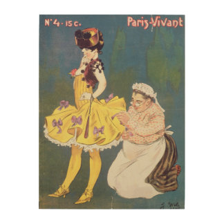 Cover of 'Paris-Vivant' Magazine, 1901 (colour lit Wood Wall Art