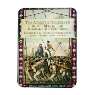 Cover of 'The Atlantic Telegraph' by William Howar Rectangular Photo Magnet