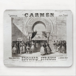 Cover of the score of piano quadrille mouse pad