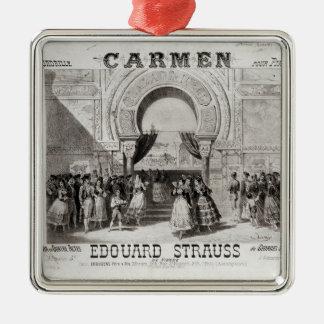 Cover of the score of piano quadrille Silver-Colored square decoration