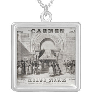 Cover of the score of piano quadrille silver plated necklace