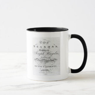 Cover of the score sheet of 'Seasons' Mug