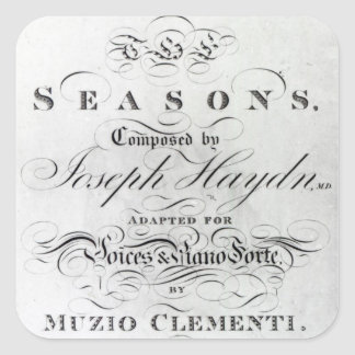Cover of the score sheet of 'Seasons' Square Sticker
