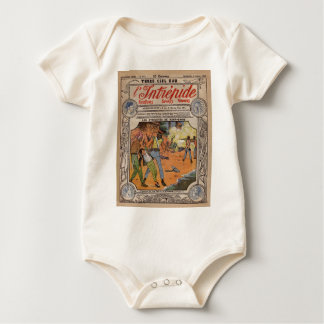 Cover page from L'Intrepide, vintage Baby Bodysuit