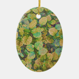 Cover Plant Ceramic Oval Decoration
