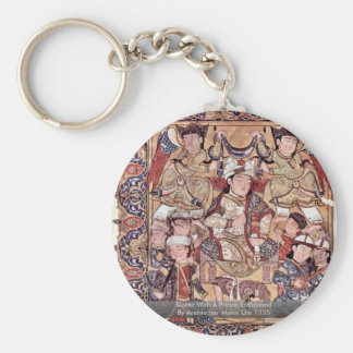 Cover With A Prince Enthroned By Arabischer Maler Key Chains