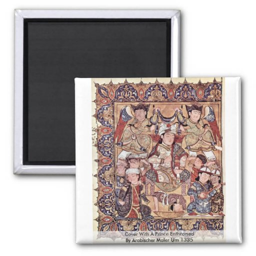 Cover With A Prince Enthroned By Arabischer Maler Fridge Magnets