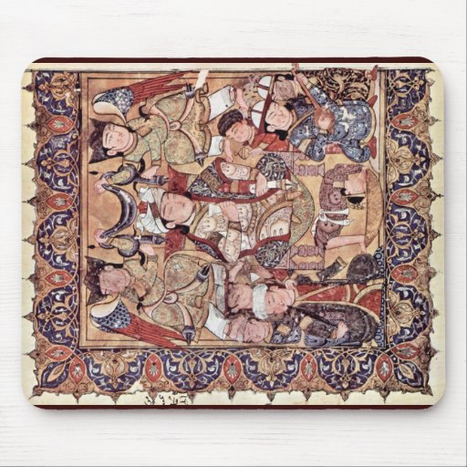 Cover With A Prince Enthroned By Arabischer Maler Mousepads
