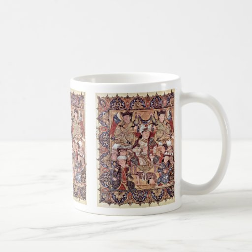 Cover With A Prince Enthroned By Arabischer Maler Coffee Mug