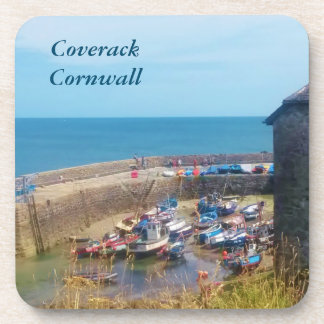 Coverack Harbour The Lizard Cornwall England Drink Coaster