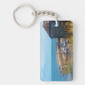 Coverack Harbour The Lizard Cornwall England Key Ring