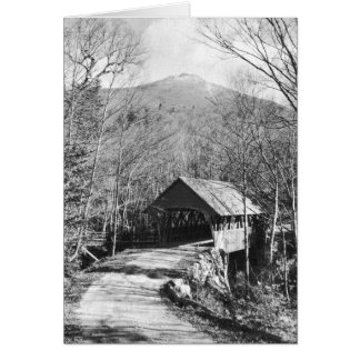 Covered Bridge (and Mt. Liberty, New Hampshire) Note Card