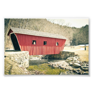 Covered Bridge at Kent Falls State Park Photo Print