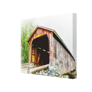 Covered Bridge -- Canvas Print