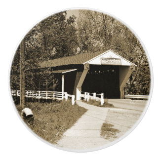 Covered Bridge Ceramic Knob