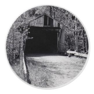 Covered Bridge Ceramic Knob