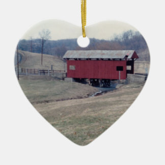 Covered Bridge Christmas Ornament