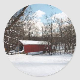 Covered Bridge Classic Round Sticker