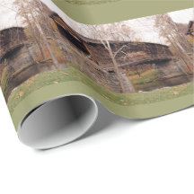 Covered Bridge Gift Wrapping Paper