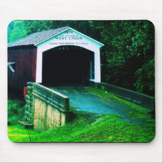 covered bridge in Indiana Mouse Mat