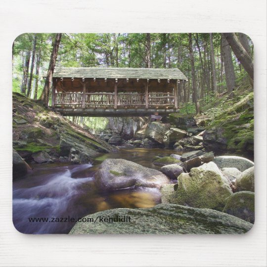 Covered Bridge in the Adirondacks Mouse Mat