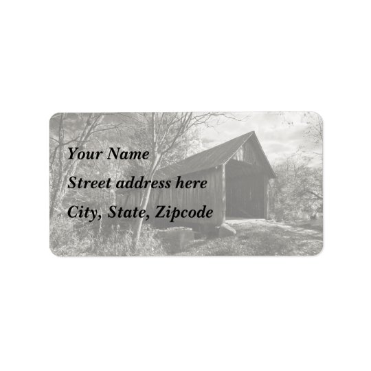 Covered Bridge Label