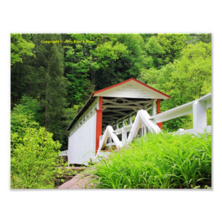 Covered bridge photo print