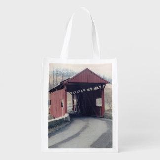 Covered Bridge Reusable Grocery Bag