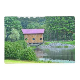 Covered Bridge Reversible Placemat Laminated Place Mat